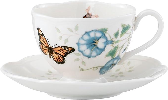 Lenox 蝶舞花香茶杯/碟 套装