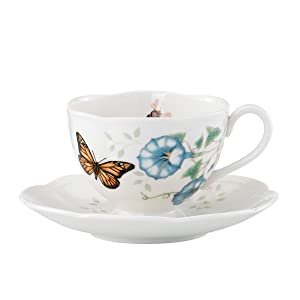 Lenox Butterfly Meadow Monarch Cup and Saucer Set - 812099