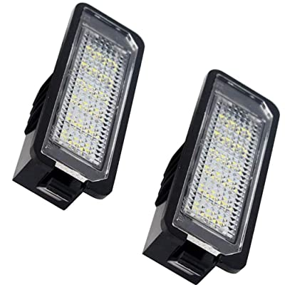 LED Car License Plate Light Assembly 12V 18 Led lamp bulb for Volkswagen VW Golf GTI CC Eos Scirocco Beetle Phaeton Rabbit Passat Error Free Direct Replacement White Rear Number Plate Lamp (2 PCS): Automotive