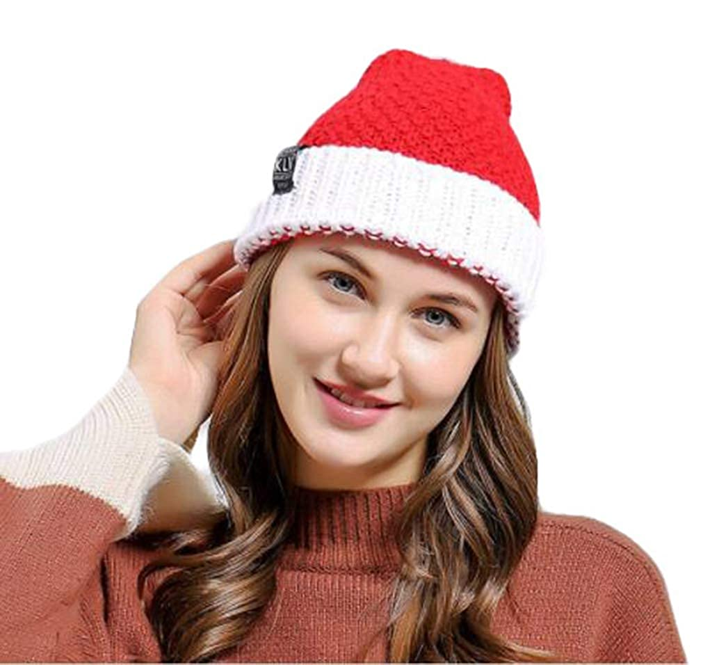 Nat Terry Merry Christmas Party Adults Santa Claus Soft Knitted Wool Cap Red /& White 1PC