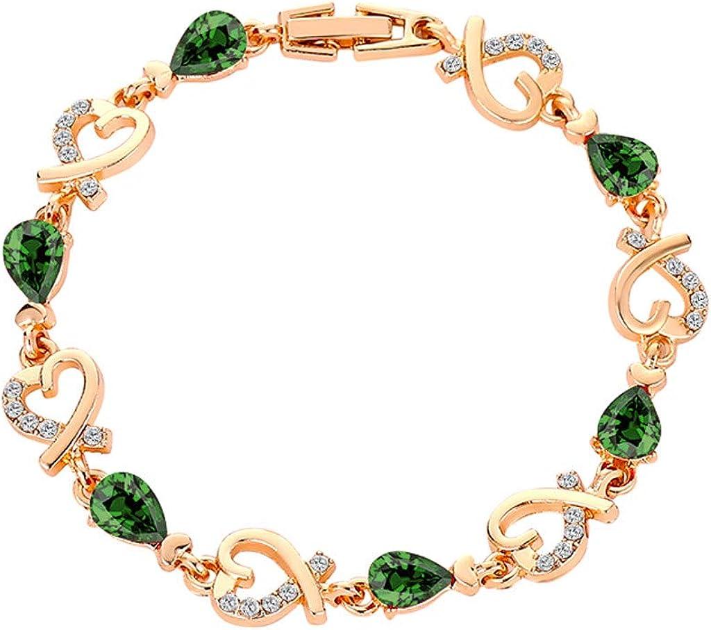 JINLILE Bracelet Fantaisie Robes Accessoire Femmes Cristal Bracelet Amour Bijoux De Mariage Filles De La Mode Cadeau Chic Pas Cher /ÉL/éGant