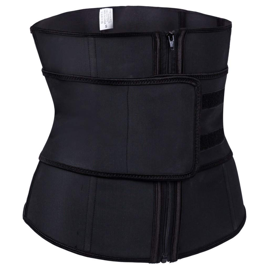 Linlink Ropa interior erótica Women Underbust Pure Color SóLido Cremallera Zipper Sport Girdle Waist Trainer Corsets Body Shaper: Amazon.es: Ropa y ...