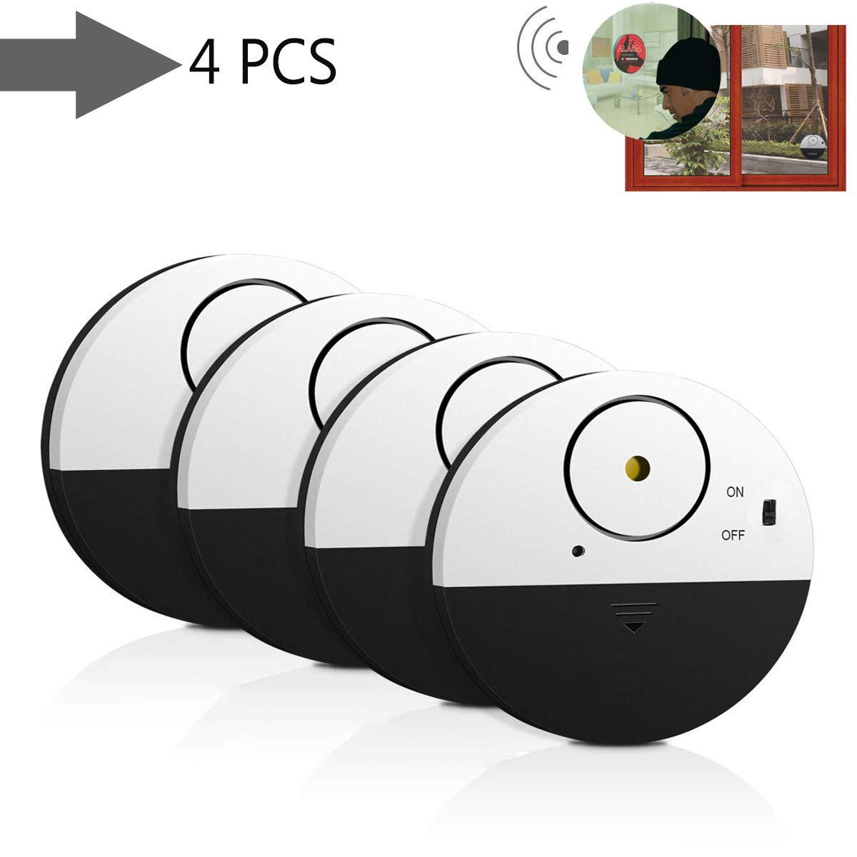 2 Piezas Lychee Alarma de Ventana y Puerta,Sensores de Movimiento Sistema de alarma inteligente para el hogar 100db,Compatible con Cualquier Ventana Detector de Seguridad para Puerta y Ventana