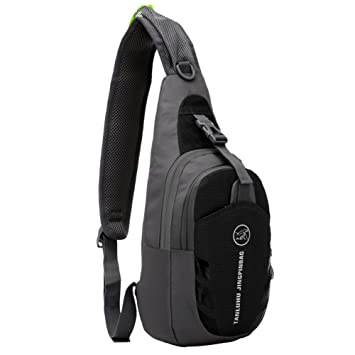 Amazon.com : Peicees Waterproof Sling Bag Crossbody Chest Pack one ...