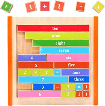 Symiu Juguetes de Madera Bloques Montessori Aprendizaje de Aritmética de Matemáticas Juguetes Educativos, Preescolar Matemáticas Juegos de Mesa para 3 4 5 Niños: Amazon.es: Juguetes y juegos