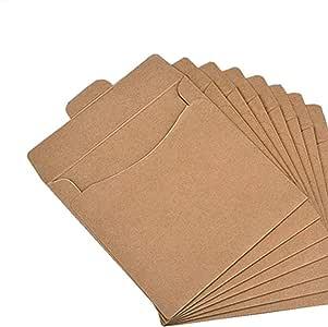 Fundas de CD Organizador de papel Kraft CD DVD sobres papel embalaje de cartón caja de bolsas: Amazon.es: Hogar