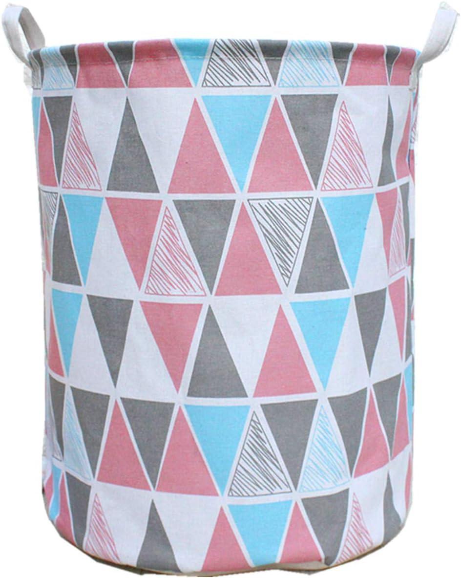 Hibedding Storage Laundry Basket Bin with Handles, Waterproof Storage Bins Convenient Canvas Organizer Hampers, Toy Bins, Gift Baskets, Bedroom, Clothes, Baby Hamper ¡