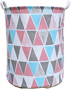 Hibedding Storage Laundry Basket Bin with Handles, Waterproof Storage Bins Convenient Canvas Organizer Hampers, Toy Bins, Gift Baskets, Bedroom, Clothes, Baby Hamper ¡­