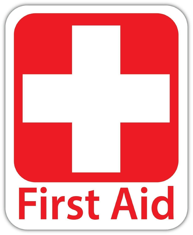 First Aid緊急安全サインv1ビニールデカール – – フルカラープリント 5 – (サイズ: 5 B0776GNK7Z