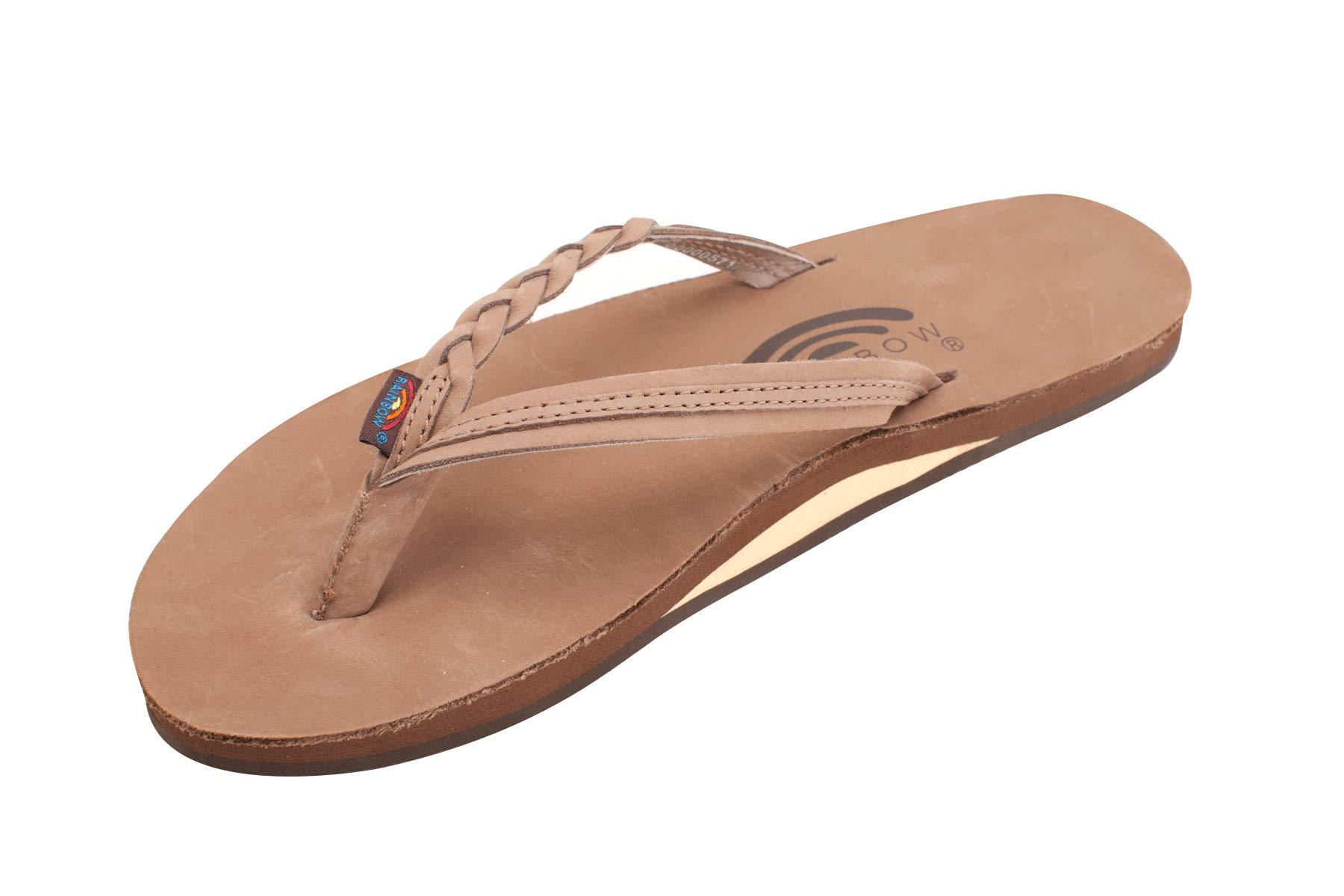 Rainbow Women's Flirty Braidy Dark Brown Sandals - Large 7.5-8.5 B(M) US by Rainbow Sandals