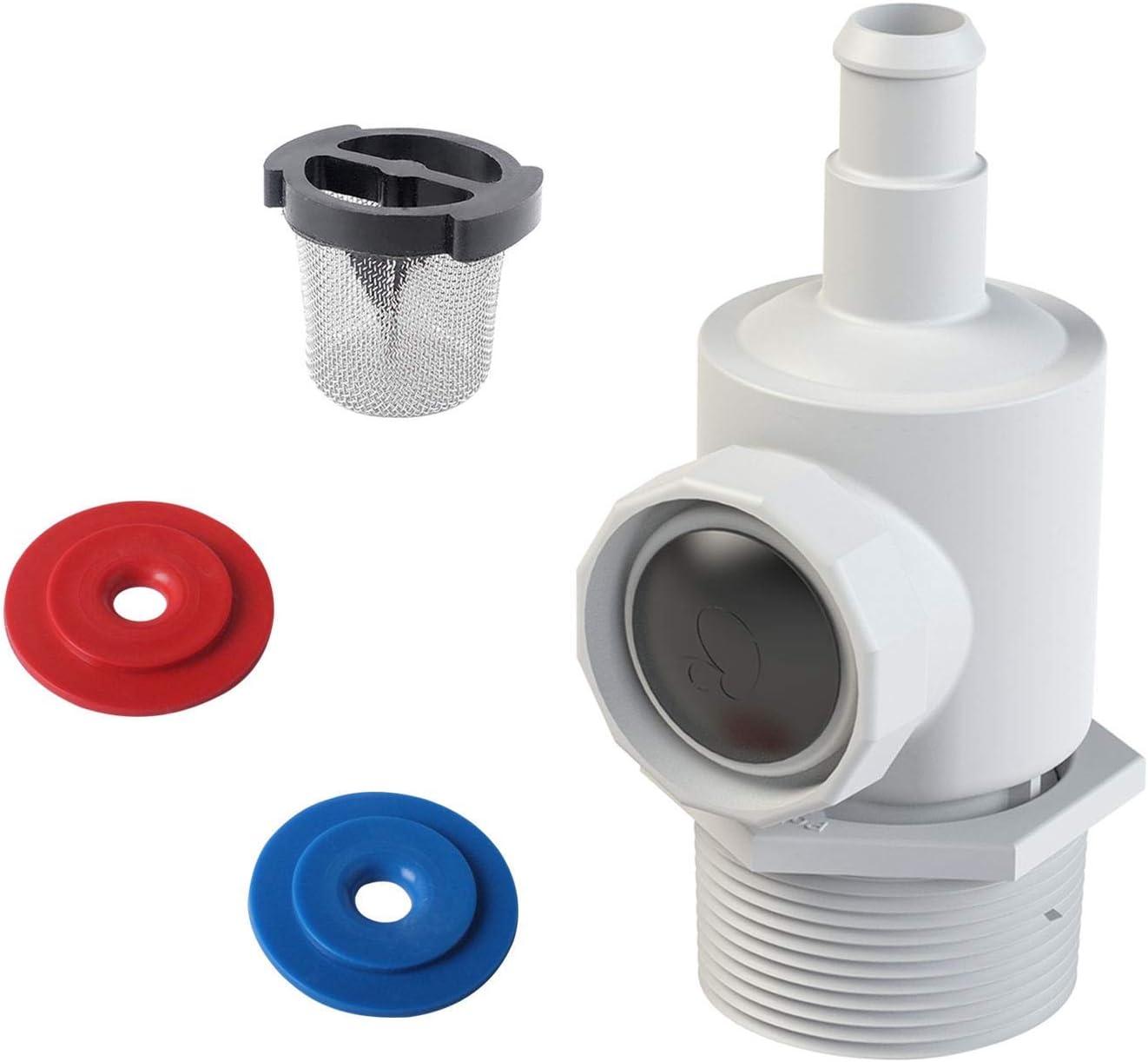 Poweka 9-100-9001 Conjunto de Conector de Pared Universal para Robot Limpiafondos Piscina Automático Polaris 180 280 380 con 6-504-00 Filtro de Pared