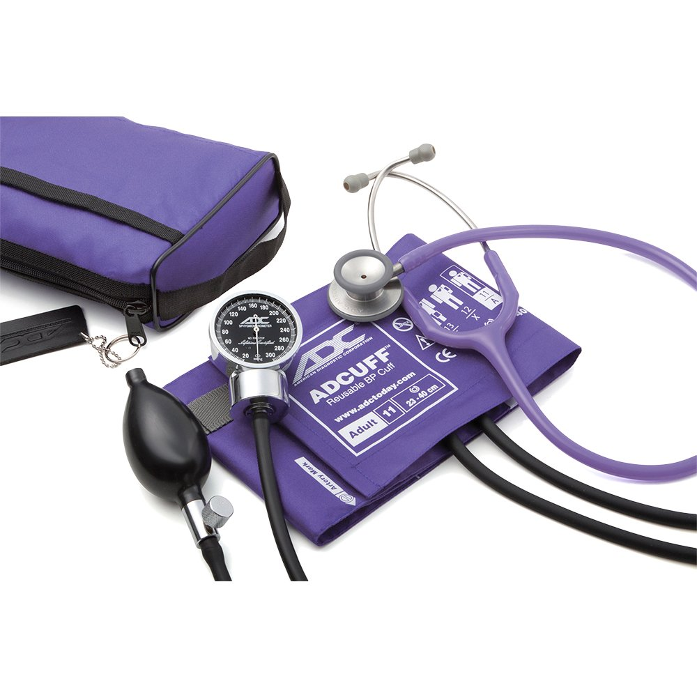 American Diagnostic Corporation Pro's Combo Iii™ Pocket Aneroid Clinician Stethoscope Kit Purple