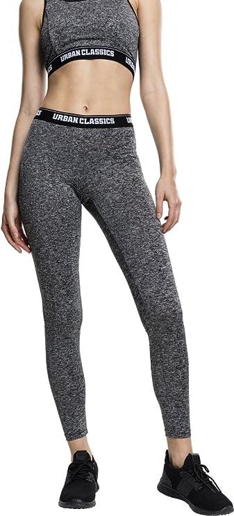 Urban Classics Ladies Active Melange Logo Leggings Pantalones Deportivos para Mujer