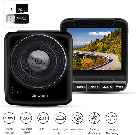 """VKAKA Dash Cam 3.0/"""" DVR Monitor Camera Video Recording System in Full HD 1080p w//Built in G-Sensor Motion Detect Parking Control Loop Record Support"""