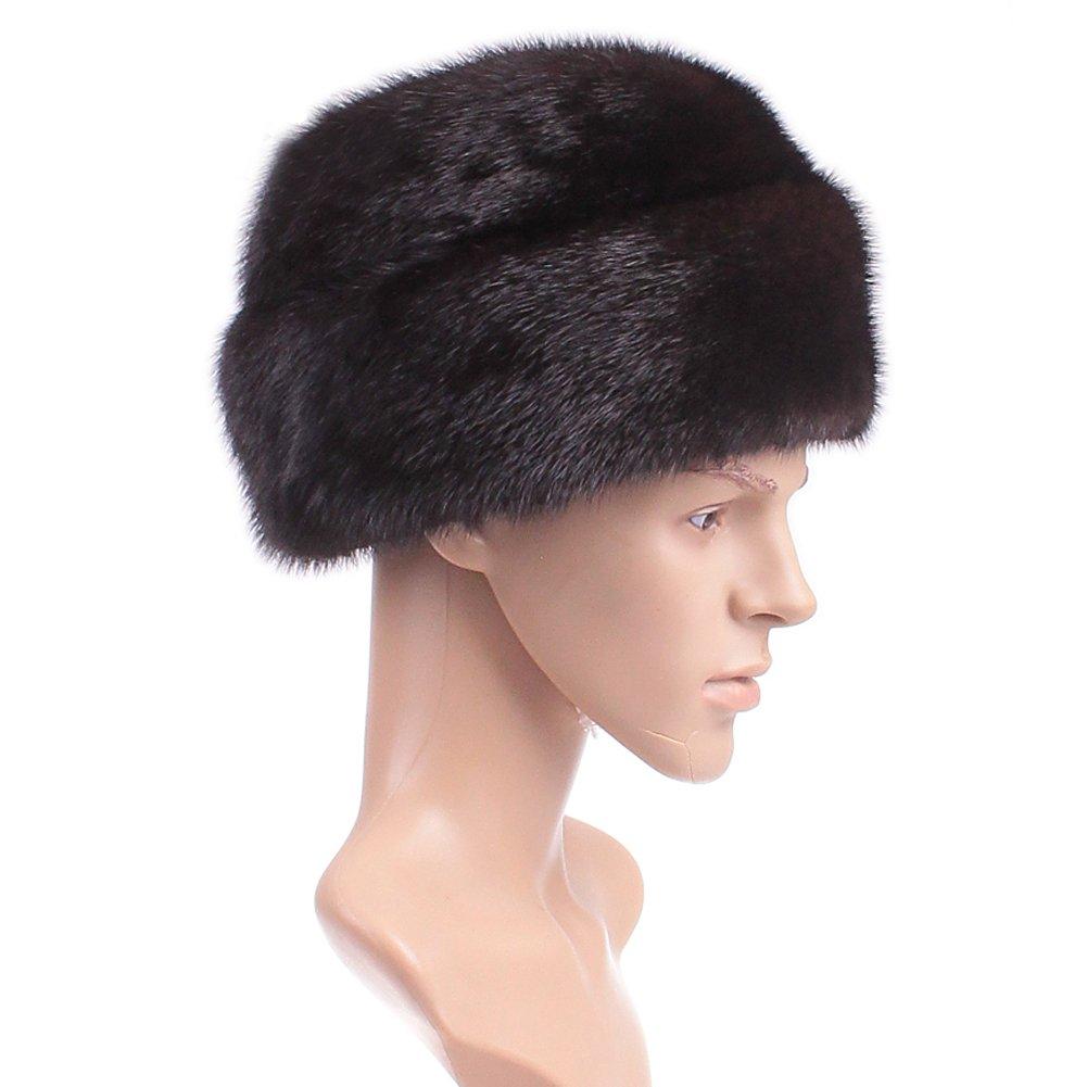 Dikoaina Men's Whole Set Mink Full Fur Russian Cossack Hat Large Black by Dikoaina (Image #3)