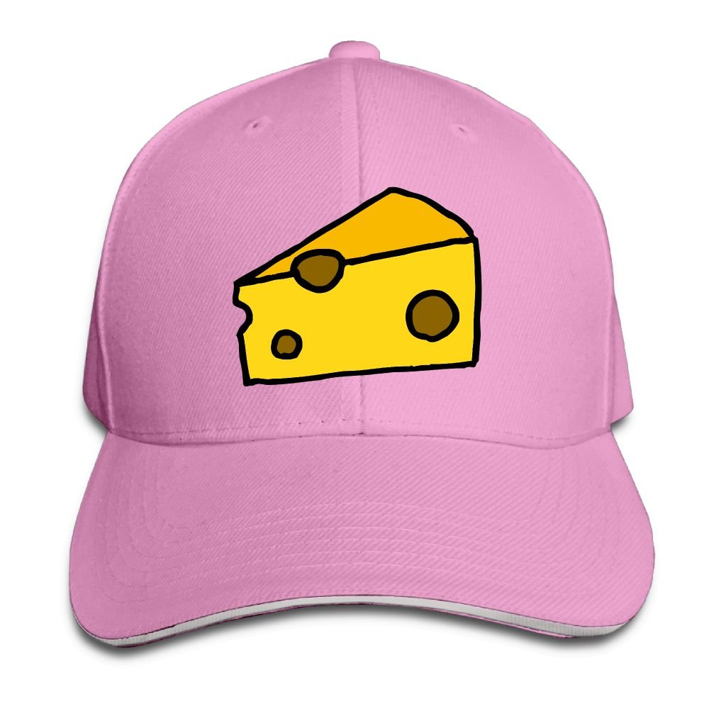 Unisex Sweet Cheese Funny Art Sandwich Peaked Cap Adjustable Cotton Baseball Caps