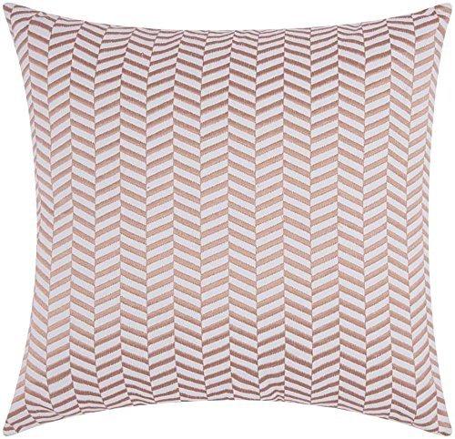 Nourison Mina Victory Alternative Chevron Mina Victory Sw513 Rosgd Decorative Pillow, 20