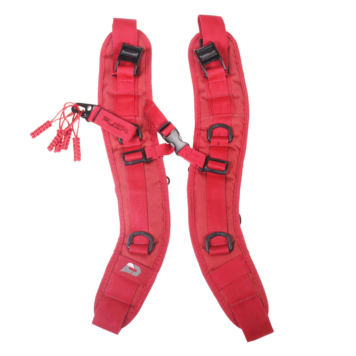 PUSH Paintball Backpack and Div1 Gear Bag Strap Kit (Red)
