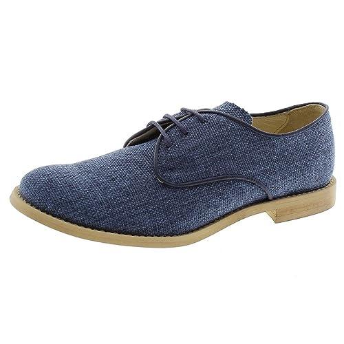 e71eb5546 Zapato Blucher comunión Lino Azul Oca Loca 6093-04  Amazon.es  Zapatos y  complementos