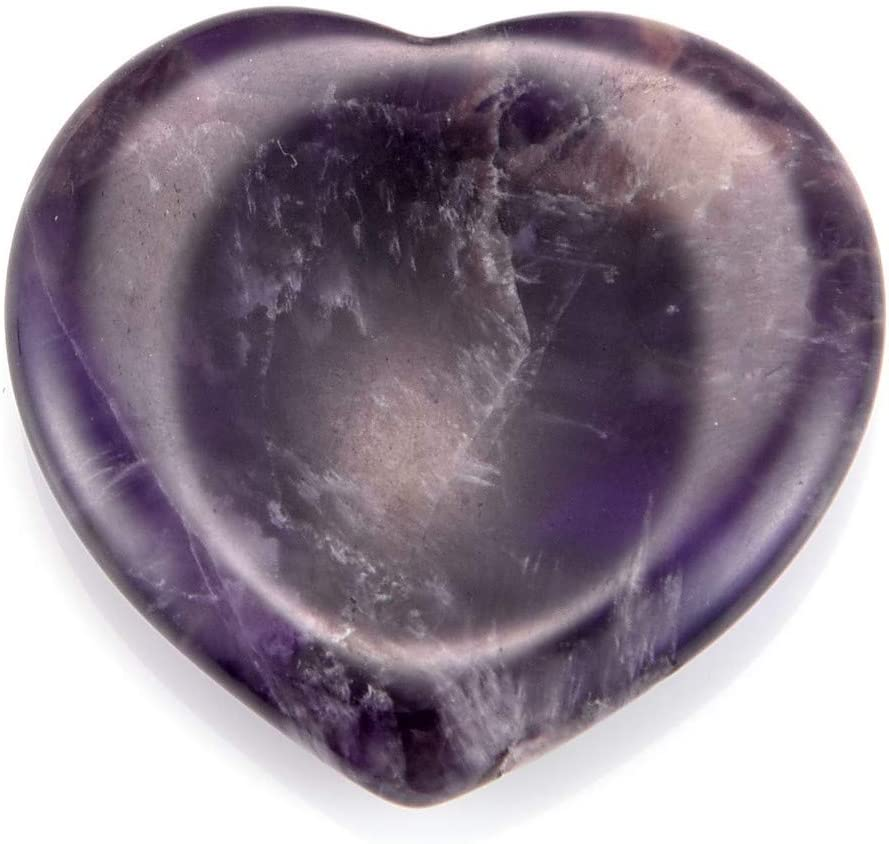 Jovivi Worry Stones Positive Energy Meditation Crystal Thumb Chakra Healing Heart Love Carved Palm Pocket Stones Set