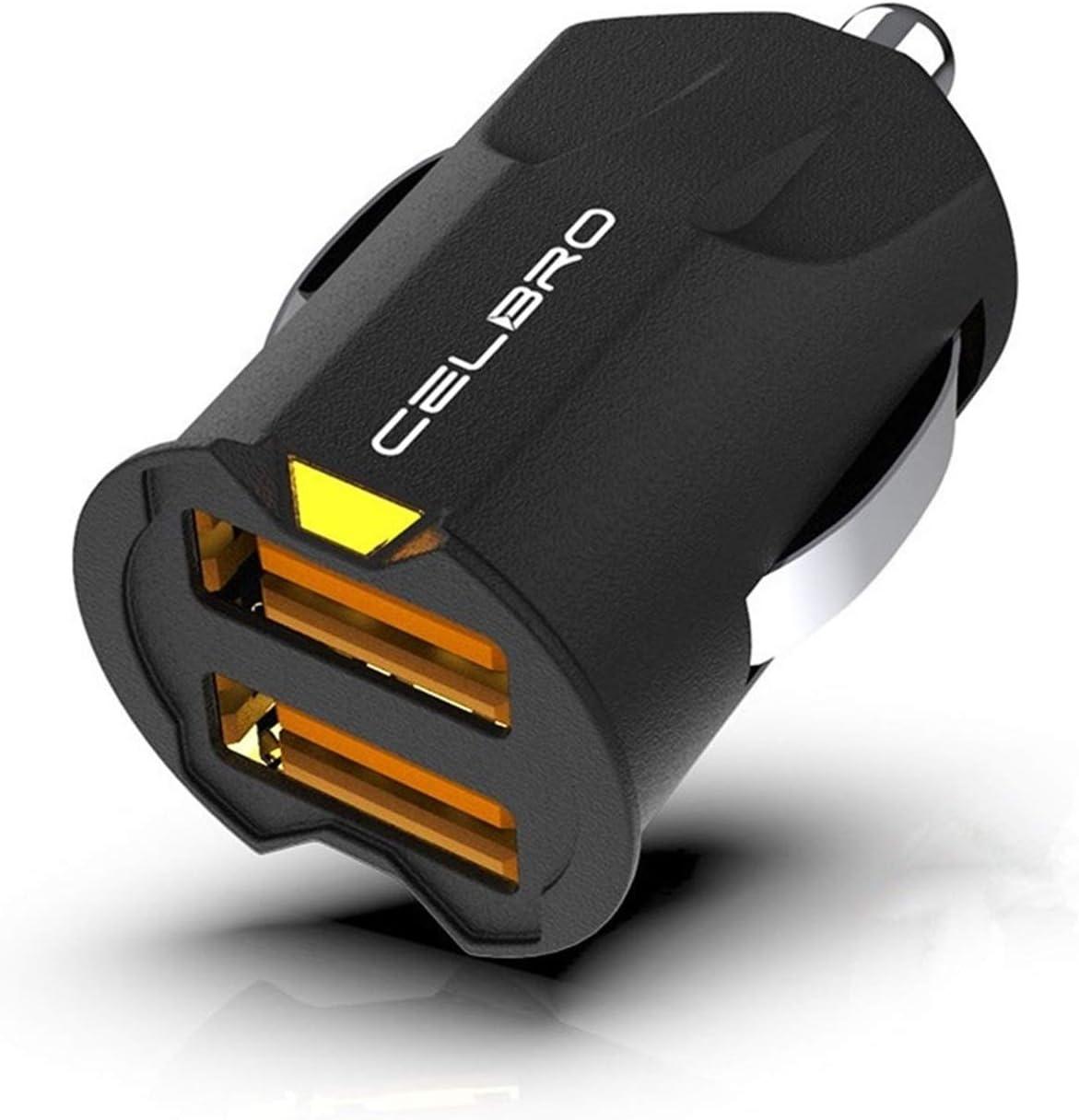 Cargador de teléfono móvil de doble del coche del USB cargador cargador de coche más pequeño Mini USB cargador de coche adaptador de carga del coche 2A automática el puerto 2 for el iPhone Samsung