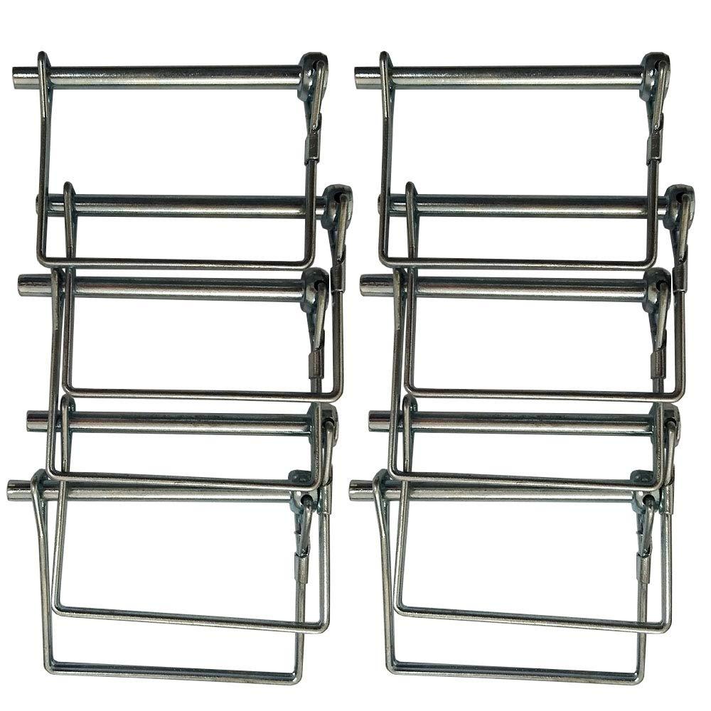 2-1//2X1-3//4 NBJINGYI Coupler Safety Locking Pin Pack of 10 Hitch Coupler Pin Zinc Plated 9mm