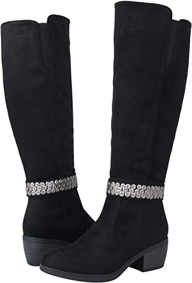 GLOBALWIN Women's 18YY22 Black Fashion Boots 8.5M