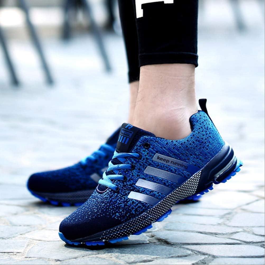 Femmes Hommes Respirant Baskets Mode Maille Course Fitness Sport décontracté Jogging Chaussures de Sport Couple Air Formateurs Chaussures Bleu