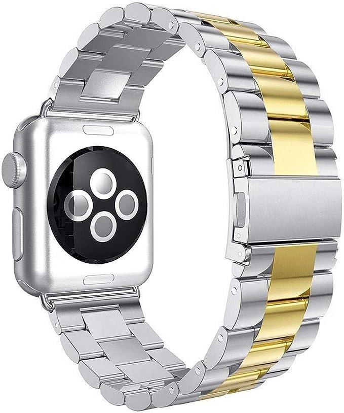Oferta amazon: Aottom Compatible con Correa Apple Watch SE 40mm, Apple Watch Series 6 5 4 3 2 1, Correa Acero Inoxidable, Correas del Reloj para Hombre Mujer, Pulsera de Repuesto Correa para Apple Watch 40mm/38mm