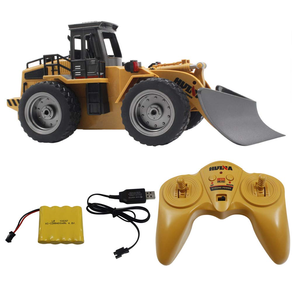 Choosebuy 1/18 Sweeper Machine Remote Control Truck, 4WD 2.4G High Speed 6CH Rechargeable RC Snow Sweeper Engineering Cars for Child Kids and Adult + Remote Control/Manual and USB Charger (Yellow) by Choosebuy (Image #2)