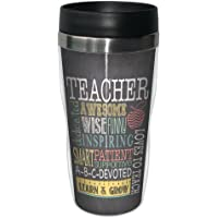 Tree-Free Greetings 78220 Jo Moulton Awesome Teacher Sip 'N Go Stainless Lined Travel Mug, 16-Ounce
