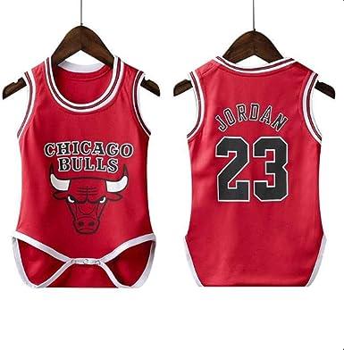 Bull Lakers Rocket Warrior Baby Fit Traje de Baloncesto siamés Traje de Salto siamés NBA Baloncesto Ropa Deportiva: Amazon.es: Ropa y accesorios