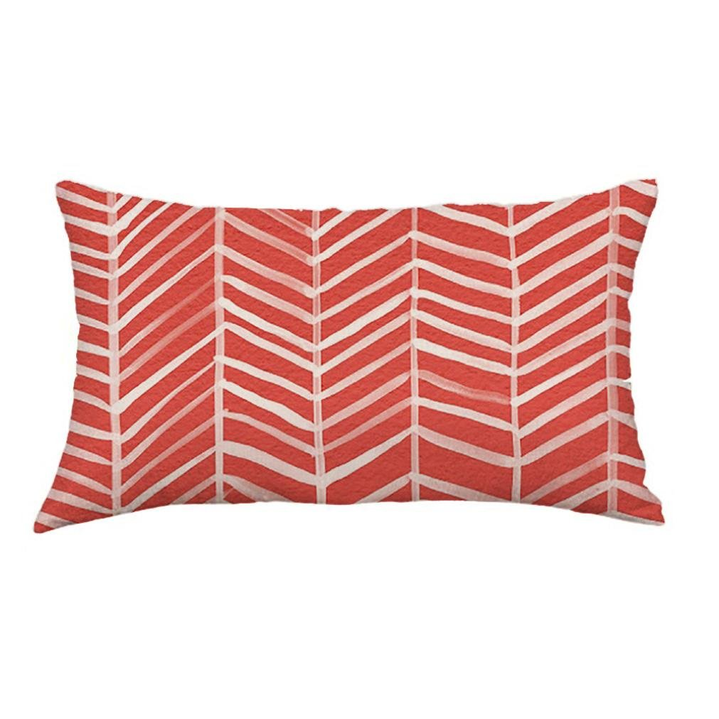 Funda de cojín rectangular con líneas geométricas de Luckhome. Funda de cojín para sofá, cama y decoración del hogar (30 cm x 50 cm), A, Tamaño libre