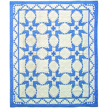 Patch Magic Feathered Star Quilt Luxury King 120 Inch By 106 Inch