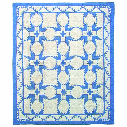Patch Magic Feathered Star Quilt Luxury, King, 120-Inch by 106-Inch