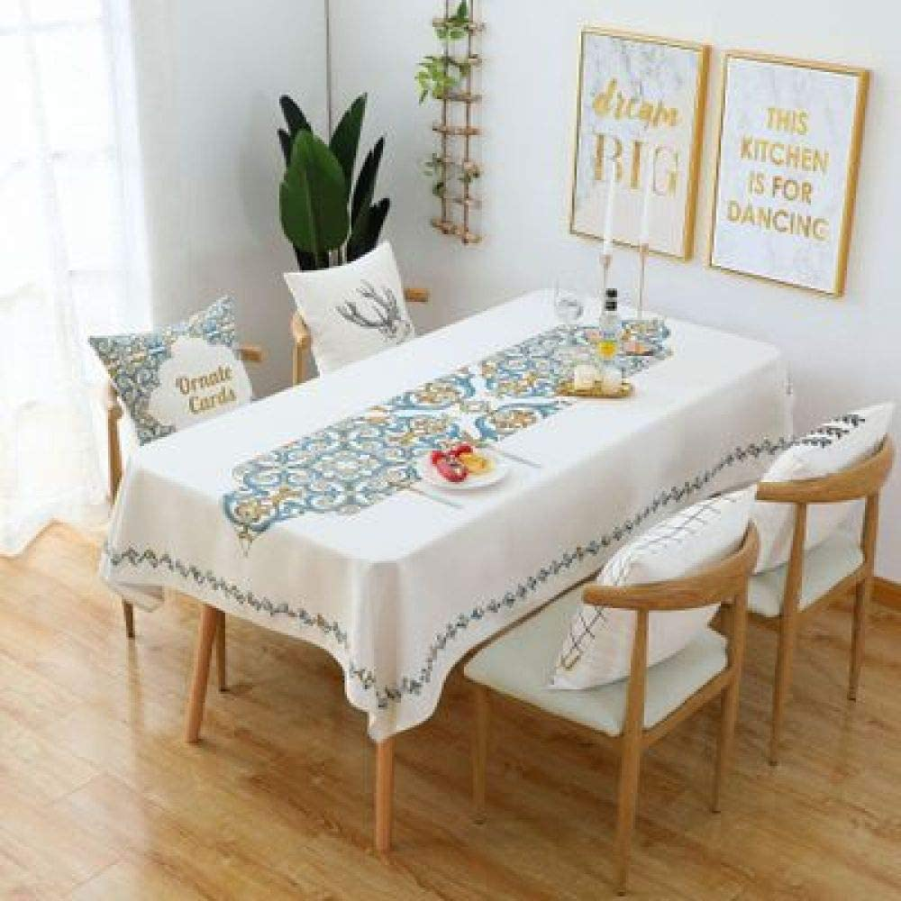 nobranded Cotton Linen Tablecloth Printed Washable Table Cloth for Dining Table Picnic tablecover (Multi-Colour,sqyare,85x85cm)