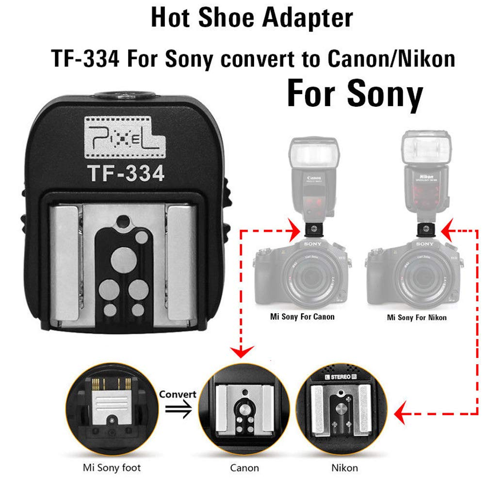 Yunchenghe Pixel TF-336 hot Shoe Adapter for converting Sonys ...