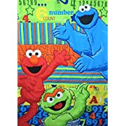 Sesame Street ABC 123 100% Microfiber (COMFORTER ONLY) Size TODDLER Boys Girls Bedding Decor