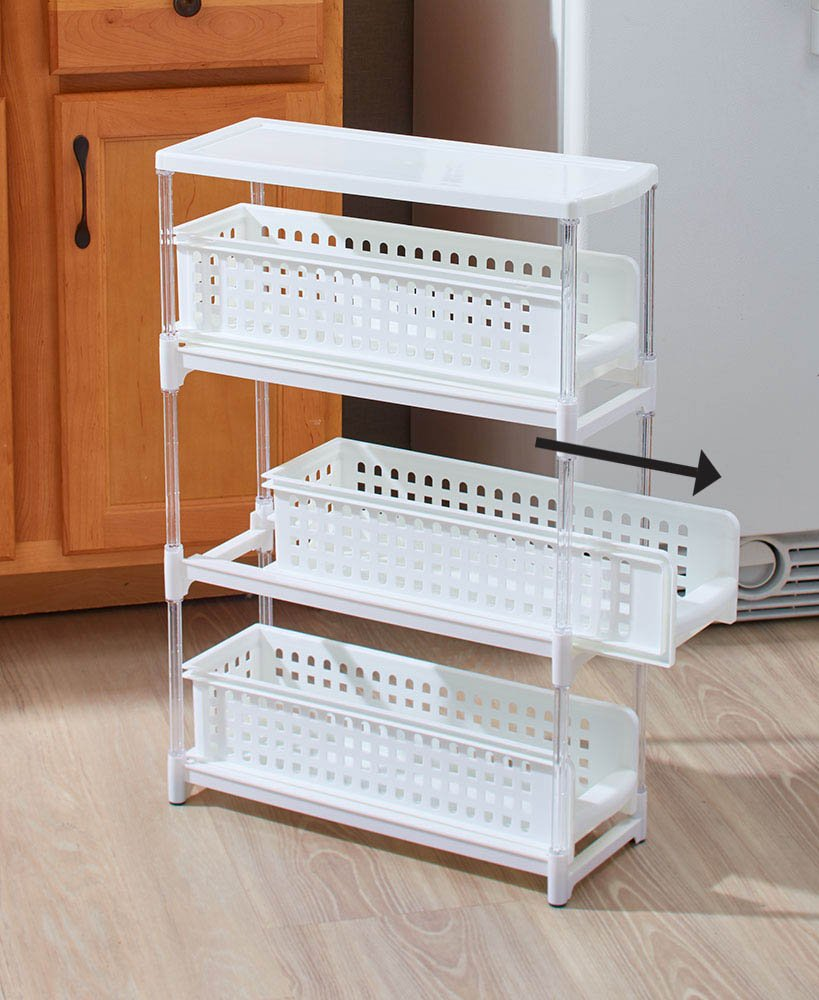 The Lakeside Collection 3-Tier Sliding Drawer Storage -