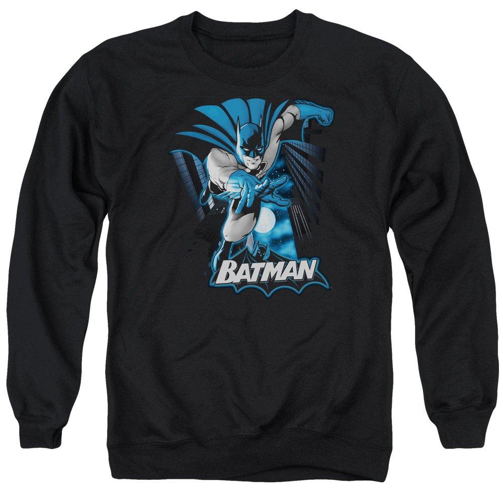 MMM Merchandising Justice League Mens Batman Blue /&Amp; Gray Sweater