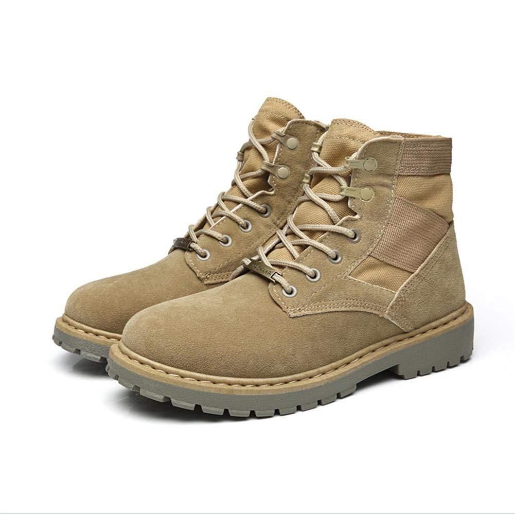 Fuxitoggo Herren-Winter-Ausrüstung Plus Cashmere-Casual-Stiefel in der hohen thermischen Rutschfestigkeit am Ende (Farbe   Sand Farbe, Größe   44)