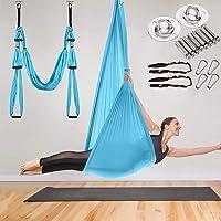 Aerial Yoga Swing Hangmat - Yoga Hangmat Swing - Trapeze Yoga Kit Antigravity Plafond Opknoping Yoga Sling met 2…