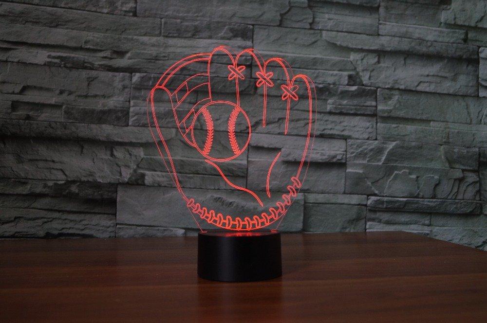 3D Bagger Illusions LED Lampen Tolle 7 Farbwechsel Acryl ber/ühren Tabelle Schreibtisch-Nacht licht mit USB-Kabel f/ür Kinder Schlafzimmer Geburtstagsgeschenke Geschenk
