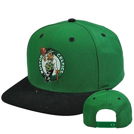 16b82f8c6d08d6 Image Unavailable. Image not available for. Color: NBA Adidas Boston Celtics  NZ843 Flat Bill HWC Classic Retro Snapback Hat Cap