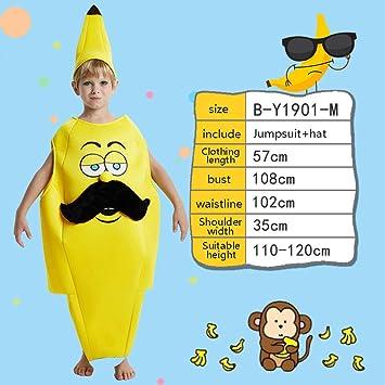XRRRO Traje De Plátano De Fruta De Carnaval Unisex Mono Divertido ...