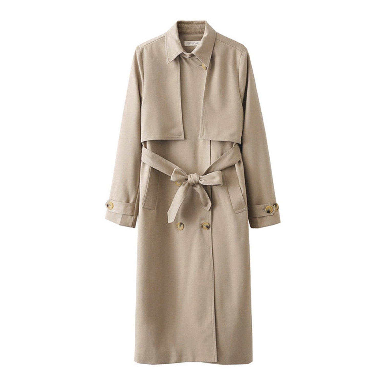 Khaki Ivan Johns Warm Women Casual Long Trench Female Coat Fashion Windbreaker Overcoat Outerwear & Coats