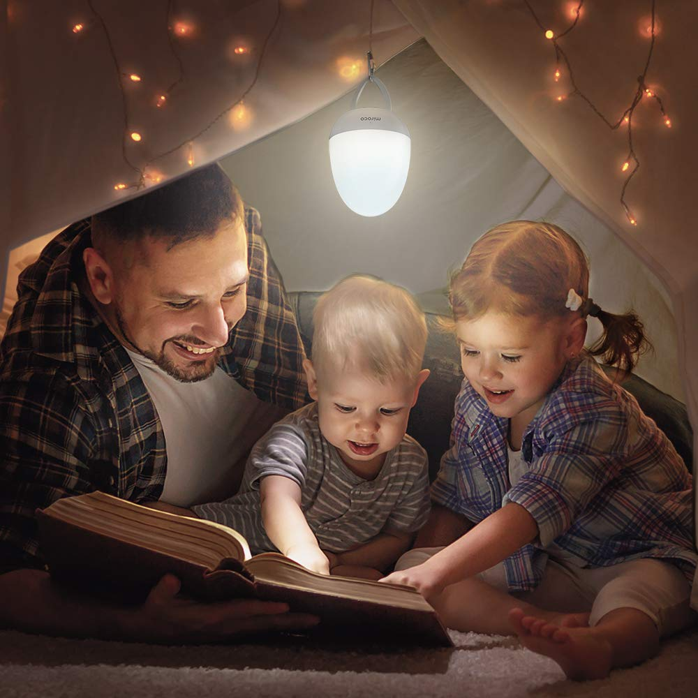 Miroco Night Lights for Kids, LED Baby Nightlight Breastfeeding Light 100% Toddler Safe, Touch Lamp USB Bedside Lamp Dim Nursery Lamp Diaper Changing Night Light, Soft Eye Caring, Timer Setting by Miroco (Image #7)