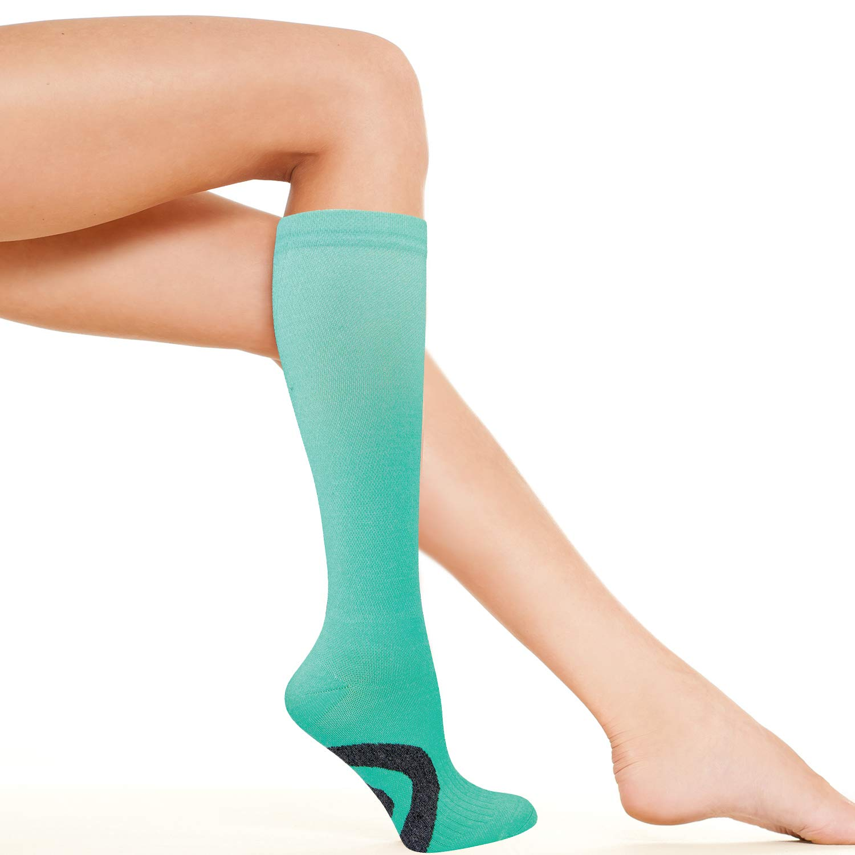 4007c0f2cee Amazon.com: Womens Compression Socks | Best for Nurse, Travel, Flights,  Maternity, Pregnancy, Medical and Running | Graduated 15-20 mmHg Knee High  ...