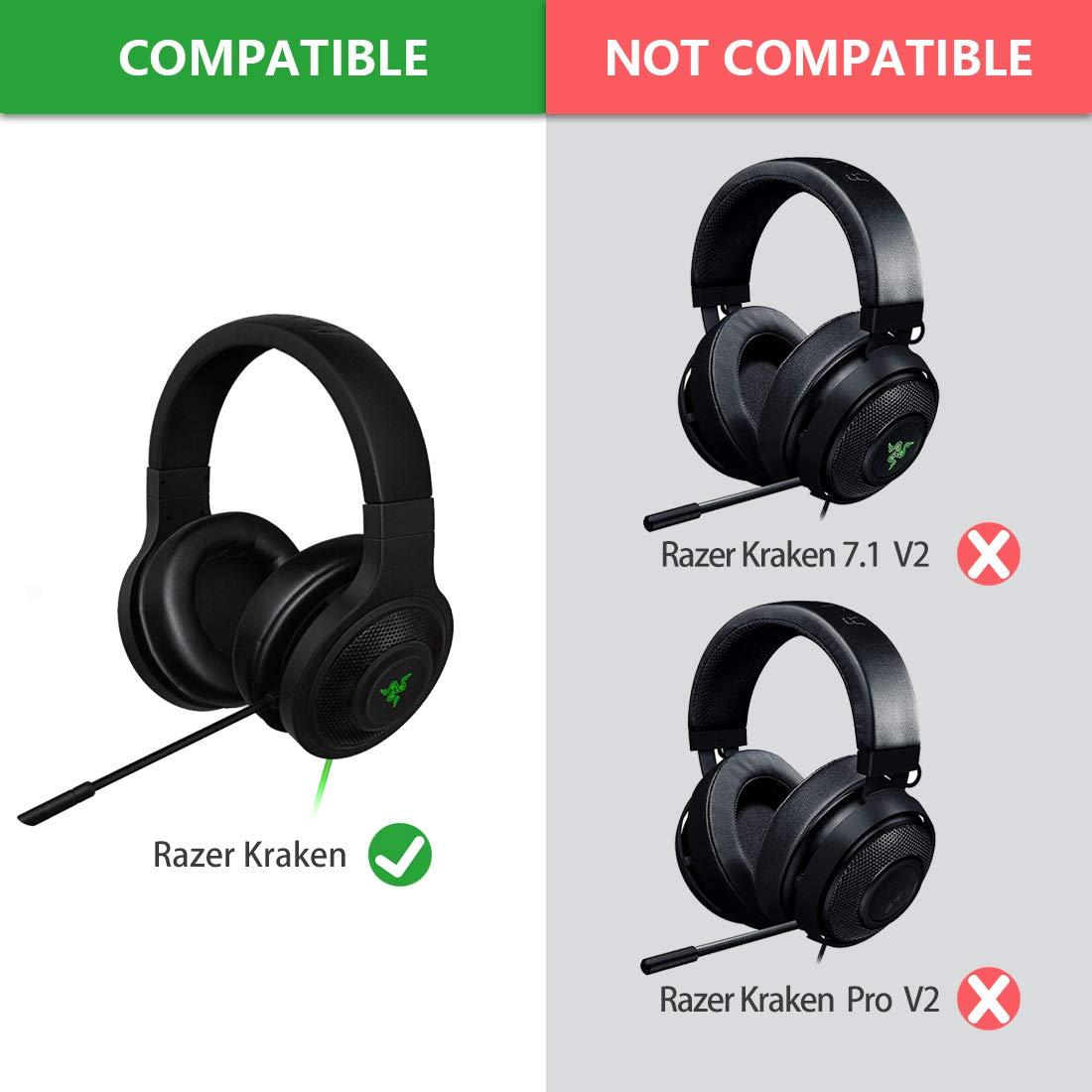 Almohadillas de Repuesto para Razer Kraken Auriculares/Almohadillas para Auriculares/Ear Cushion/Ear Cups/Orejas Cubierta/Almohadillas Piezas de reparación: ...