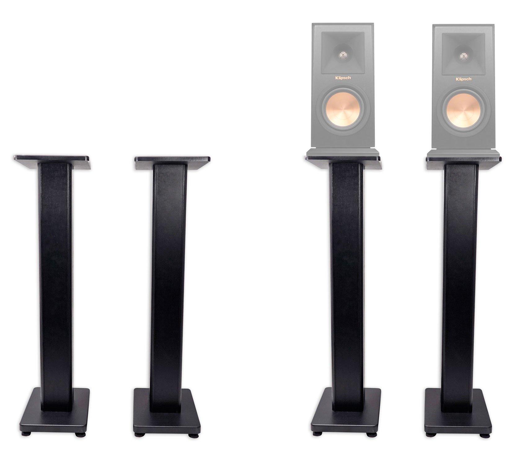 Pair 36'' Bookshelf Speaker Stands For Klipsch RP-150M Bookshelf Speakers
